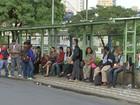 Motoristas de empresas de ônibus fazem paralisação nesta 3ª feira