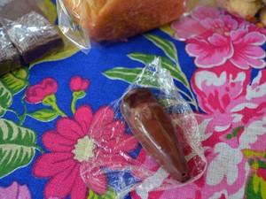 Bombom de pinhão, Silvia Urias, Monte Verde, Gastronomia, Festival (Foto: Daniela Ayres/ G1)