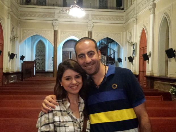Casal saiu da Síria há quatro meses para tentar uma vida nova em Belo Horizonte (Foto: Thais Pimentel/G1)