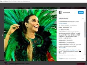 Luan mandou recado para Ivete em rede social (Foto: Reprodução/Instagram)