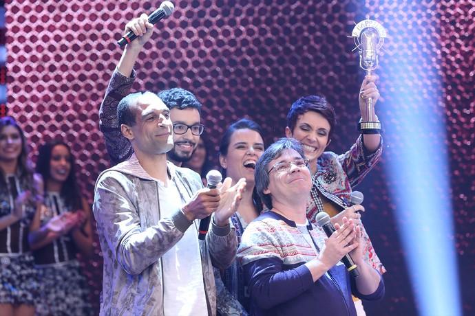 Vocal5 vence o 'A Cappella'! (Foto: Carol Caminha / Gshow)