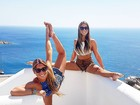 Bia e Branca Feres curtem férias na Grécia após Olimpíada