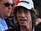 Mick Jagger vai ao Maracanã para assistir à final da Copa do Mundo