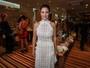 Guilhermina Guinle usa look com transparência em evento de moda