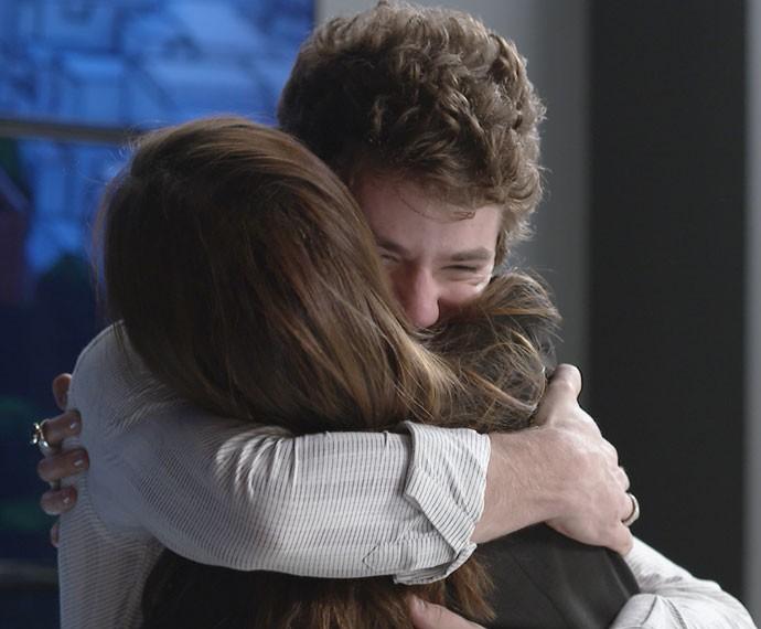 Ex-casal comemora sucesso do Projeto (Foto: TV Globo)