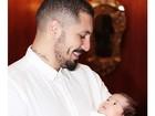 Fernando Medeiros posa com o filho: 'Meu parça'