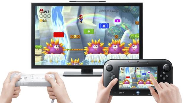 'New Super Mario Bros. U' é um dos games de lançamento do Wii U e que fazem uso da tecnologia do novo controle (Foto: Divulgação)