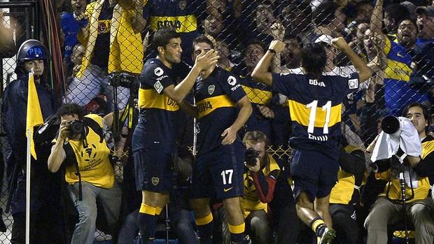 Nicolas Blandi gol Boca Juniors Corinthians (Foto: AFP)