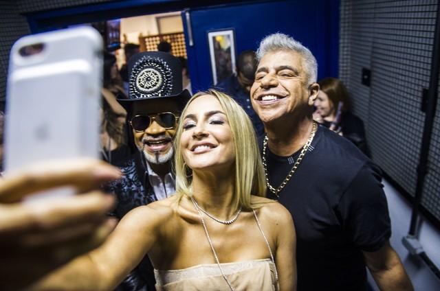 Claudia Leitte, Carlinhos Brown e Lulu Santos (Foto: João Miguel Júnior/TV Globo)