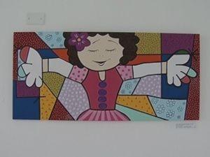 Mostra expõe telas feitas por crianças e adolescentes.  (Foto: reprodução/ TV Tem )