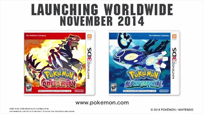 Pokémon Omega Ruby e Pokémon Alpha Sapphire são anunciados para novembro de 2014 no Nintendo 3DS (Foto: Reprodução)