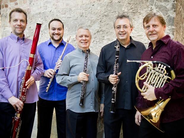 Quinteto Villa- Lobos vai homenagear o maestro e compositor que dá nome ao festival  (Foto: Divulgação / Canivello Comunicação)