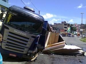 Segundo Transalvador, ninguém ficou ferido (Foto: Angelo Pereira/Arquivo Pessoal)