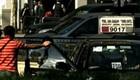 Capital chilena incentiva táxi coletivo (Reprodução/TV Globo)