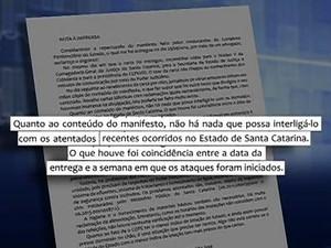 Segundo juíza, houve coincidência entre a data da entrega da carta e o início dos ataques (Foto: Reprodução/RBS TV)