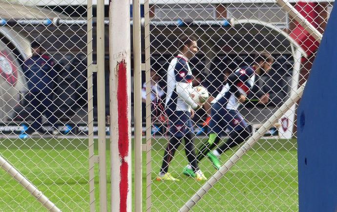 Cauteruccio no treino fechado do San Lorenzo (Foto: Daniel Mundim)