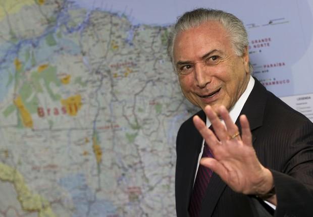 O presidente Michel Temer durante reunião no Planalto (Foto: Marcelo Camargo/Agência Brasil)