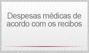 Selo - Despesas médicas de acordo com os recibos (Foto: G1)
