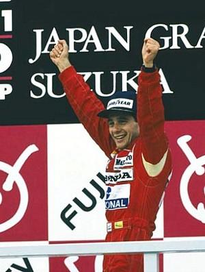 Ayrton Senna pódio GP do Japão de 1988
