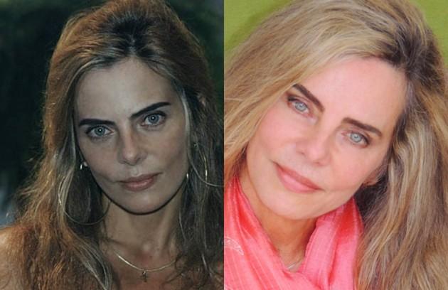 Bruna Lomardi interpretou Gardênia, mulher de Tonico Laranjeira (Otávio Augusto). Recentemente, a atriz lançou 'A vida secreta dos casais', da HBO (Foto: TV Globo/Reprodução)
