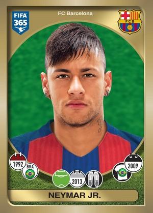 Neymar figurinha Fifa 365 Flamengo (Foto: Divulgação)