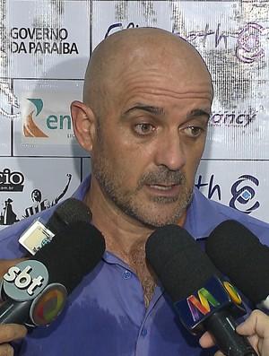 Itamar Schülle, Schülle, treinador do Botafogo-PB (Foto: Reprodução / TV Cabo Branco)