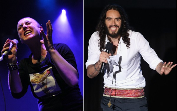 Sinead O'Connor e Russell Brand (Foto: Getty Images)