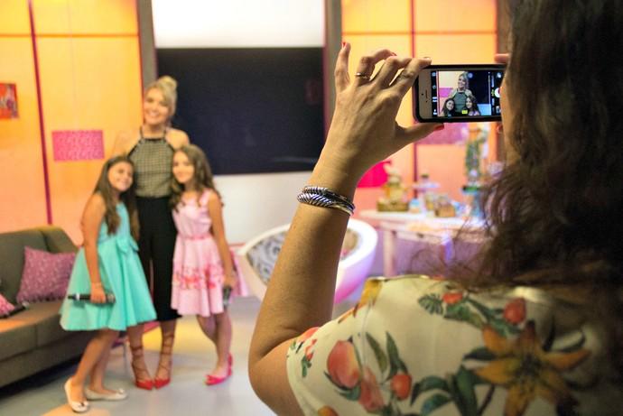 Mistura com Rodaika Luiza Haggsträm Maria Fernanda bastidores (Foto: Maicon Hinrichsen/RBS TV)