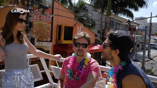 Cecília Ribeiro leva Bruninho e Davi para passeio temático de Carnaval