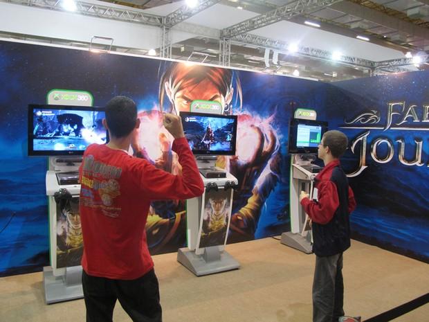 Imagens dos corredores da Brasil Game Show (Foto: Gustavo Petró/G1)