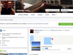 Piloto informou amigos pelas redes sociais que sobrevoava o Lago de Furnas horas antes de cair (Foto: Reprodução Facebook)