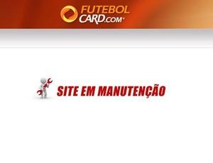 site futebol card - espera e manutenção (Foto: Reprodução)