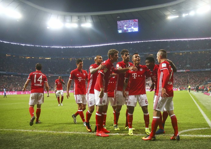 Bayern de Munique x Hertha Berlin  (Foto: Reuters)