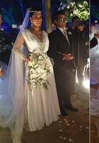 Brilho demais, tecido de menos... Relembre famosas que erraram a mão na escolha do vestido de noiva