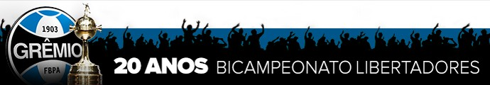 Header Grêmio 20 anos Bicampeonato Libertadores (Foto: Infoesporte)