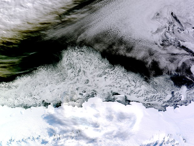 Imagem da Nasa mostra território antártico (Foto: Jeff Schmaltz, LANCE/EOSDIS Rapid Response/Nasa)