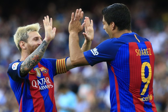 Messi Suárez Barcelona (Foto: AFP)