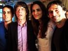 Murilo Rosa e Fernanda Tavares tietam Mick Jagger antes de jogo