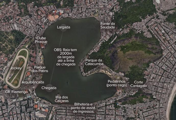 INFO: Lagoa Rodrigo de Freitas  (Foto: Editoria de Arte)