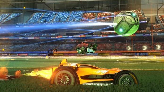 Utilize o turbo em Rocket League para acompanhar as jogadas mais importantes e bater na bola com mais força (Foto: Reprodução/Eurogamer)