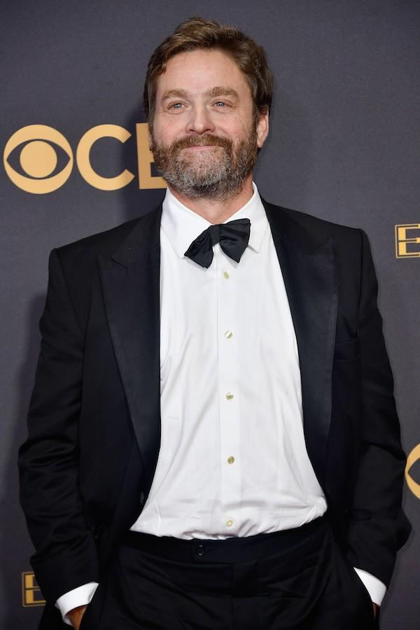 O ator Zach Galifianakis no Emmy 2017 (Foto: Getty Images)