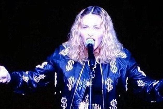 Madonna no Madson Square Garden (Foto: Reprodução)
