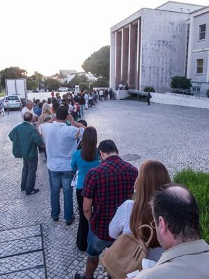 Fila para votação em Portugal (Foto: Guilherme Tossetto/G1)