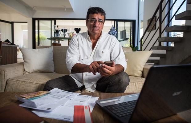 O empresário Iberê Castro é adepto dos apps financeiros: 'Eu só vou a banco atualmente para fazer depósito'. (Foto: Victor Moriyama/G1)