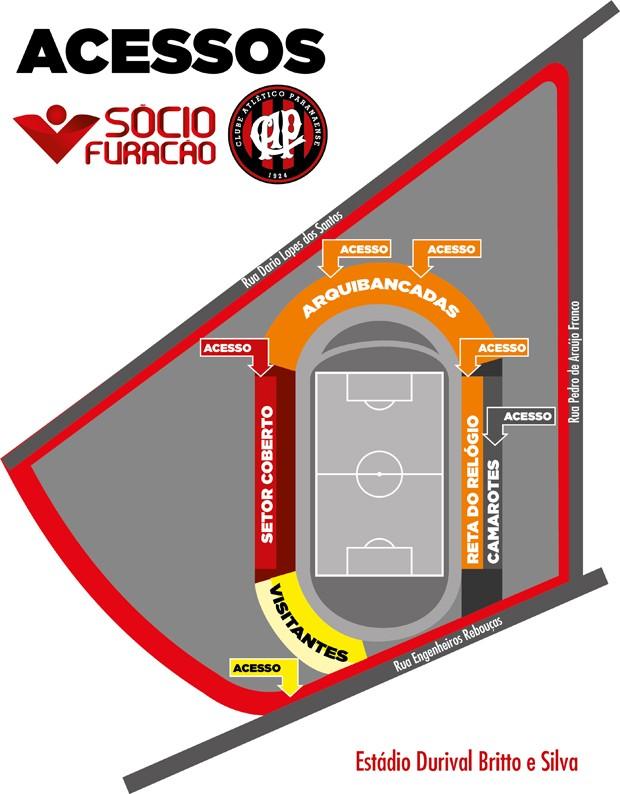 Setor coberto da Vila Capanema (Foto: Site oficial de Atlético-PR/Divulgação)