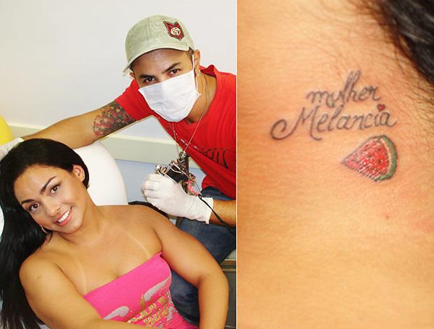 Tatuagem de Mulher Melancia (Foto: Reprodução)