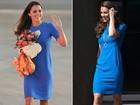 Mesmo manequim: Kate Middleton repete vestido de antes da gravidez
