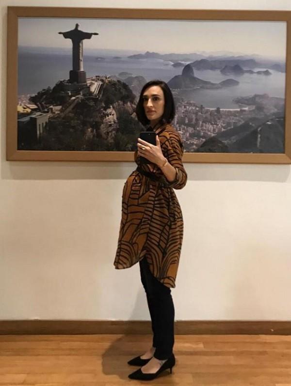 Maria Prata exibe barrigão de gravidez  (Foto: Reprodução Instagram)