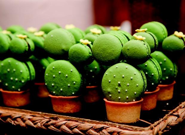 4. Macarons no formato da vegetação do sertão nordestino (Foto: Bruna Jacubovski)