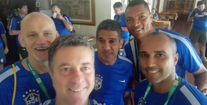 Dida, Silas e Deivid no curso de treinadores da CBF (Foto: Divulgação/Cruzeiro)